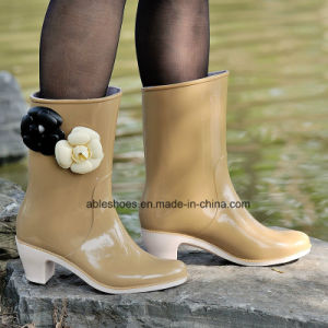PVC Ladies High Heel Boots, Comfort Shoes for Lady (AB-F2)