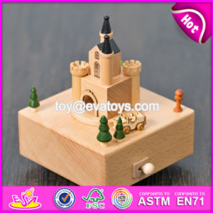 Customize Cartoon Castle Wooden Music Boxes for Children W07b046 pictures & photos