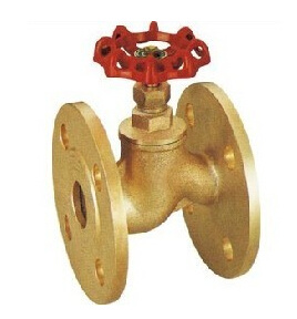 Double Flange Brass Globe Valve with CE and ISO9001