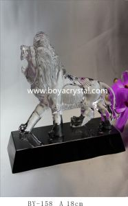 Ambitious Lion Crystal Gifts for Office and Home Decoration (BY-158)