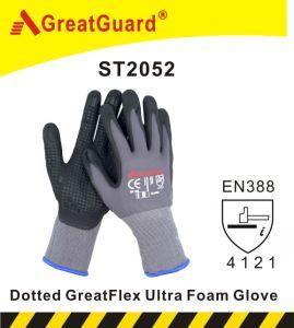 Hi Vis Sandy Foam Finish Nitrile Glove (CE Certificated) pictures & photos