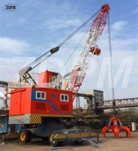 Port Mobile Crane with Grab for Barge Handling