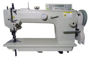 Single Needle Top and Bottom Feed Lockstitch Sewing Machine pictures & photos