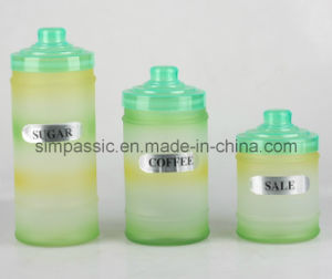 Hand Painting Glass Storage Jar with Lid (4PCS) (SG1434SJ) pictures & photos