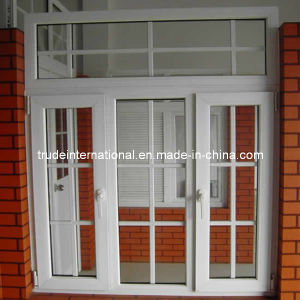 UPVC Plastic Grilled Casement Window pictures & photos