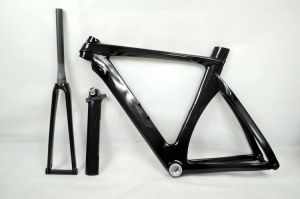 New Arrive Time Trial Carbon Bike Frame 3k Clear Coating