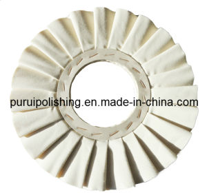 White Pleated Airway Cotton Buffing Polishing Wheel for Metal pictures & photos