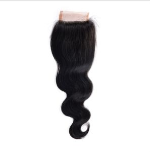 Big Discount Unprocessed 4*4 Swiss Lace Free Part Body Wave Virgin Human Hair Top Closure