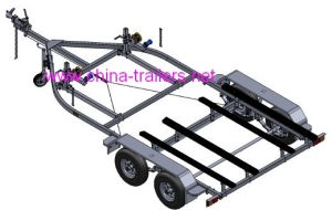 Double Tandem Jet Ski Trailer with Bunk pictures & photos