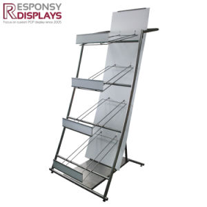Customized Metal Steel Floor 4 Wheels Display Rack in Retail Store pictures & photos