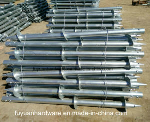 Round Shaft in Ground Screw Piles for Building Foundation pictures & photos