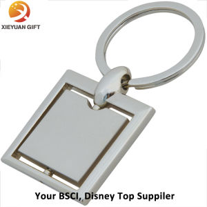 Making Metal Square Rotate Keyring Keychain pictures & photos