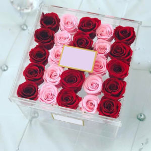 New Arrival Clear Acrylic Luxury Flower Gift Box with Cover pictures & photos