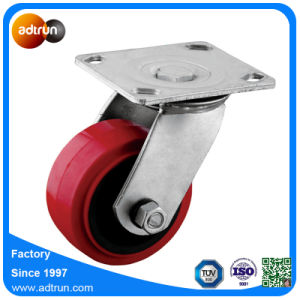 Heavy Duty Swivel Plate Polyurethane Caster Wheels pictures & photos