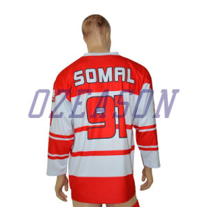 Wholesale OEM Service 100% Polyester Full Sublimation Custom Hockey Jersey pictures & photos