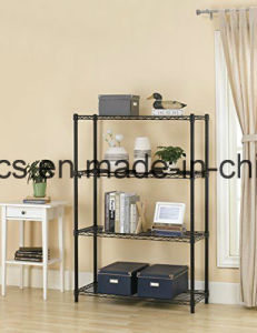 Assembly Adjustable Metal Furniture 5 Tiers Wire Book Shelving Rack pictures & photos