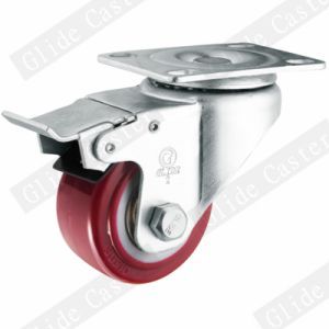 Medium Light Duty PU Swivel Caster (Red) (Double Ball Bearing) G2202 pictures & photos