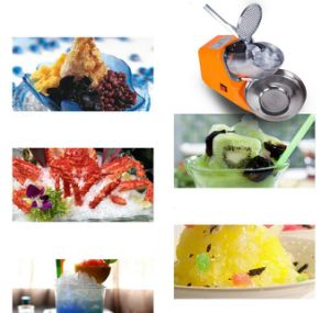 Ice Crusher Machine 2-Blade Full Stainless Steel Smoothie Ice Shaved Ice Chopper pictures & photos
