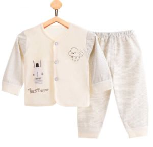 100% Cotton Newborn Underwear Long Sleeve Pants Two Sets Baby Clothes pictures & photos