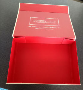 Custom Handmade Fancy Gray Paper Cosmetic Gift Box with Coated Paper Logo pictures & photos