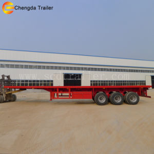 China Factory 40ton 40FT Container Flatbed Trailer for Sale pictures & photos