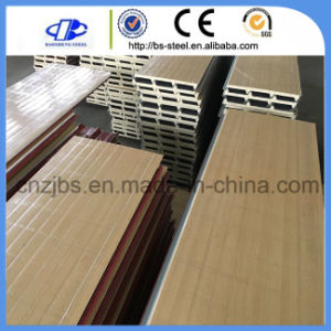 Wood Pattern Steel Skin PU Sandwich Panel pictures & photos