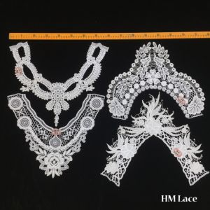 White Bridal Crochet Collar Lace Floral Garment Wedding Neckline Lace pictures & photos