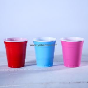 Cold Drinking Double Color PS Disposable Plastic Cup pictures & photos