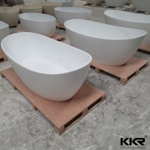 Acrylic Solid Surface Freestanding Bathtub Stone Hot Tub pictures & photos