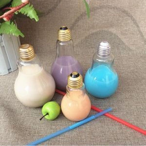 Bulb Shape Glass Beverage Bottles with Gold Screw Lid pictures & photos