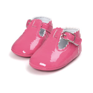 Sweet Toddler Girl Crib Shoes Soft Sole Anti-Slip Baby Sneakers pictures & photos