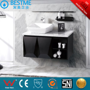 Hotel Design Black Color Solid Wood Bathroom Cabinet by-X7032 pictures & photos