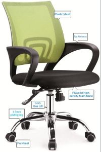 MID Back Mesh Fabric Staff Computer Manager Swivel Office Chair pictures & photos