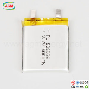 Pl 503035 3.7V 500mAh Rechargeable Lithium Battery with PCM pictures & photos