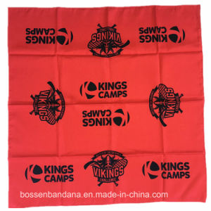 China Factory OEM Produce Custom Paisley Red Cotton Bandanna Headwrap pictures & photos
