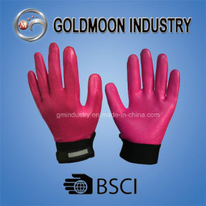 All Dipped Nylon Liner Nitrile Red Foam Finish Mechanic Safety Work Glove pictures & photos