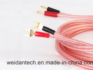 Professional Made 2 X1.5mm2 Terminated Speaker Cable pictures & photos