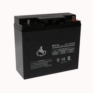 12V 17ah Rechargeable Sealed Lead Acid Battery with ISO9001 pictures & photos