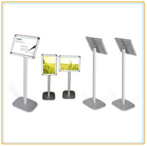 Outdoor Display Flat Steel Standing Pole A4 Advertising Poster Stand pictures & photos