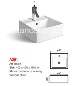 Square Ceramic Bathroom Basin 400mm (No. A261) Washing Art Basin pictures & photos