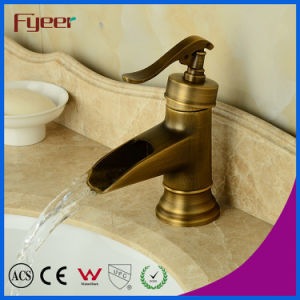 Fyeer Teapot Bathroom Waterfall Antique Brass Basin Faucet pictures & photos