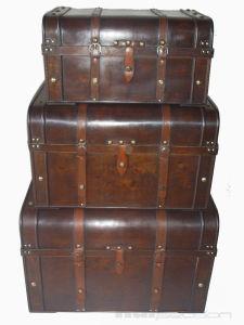 Decorative Antique Wooden Hamper Box