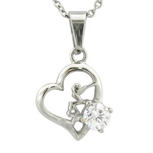New Design Silver Heart Pendant with Crystal pictures & photos