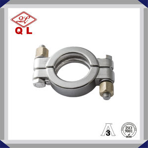Sanitary Stainess Steel Pipe Fitting Ferrule High Pressure Clamp Set pictures & photos