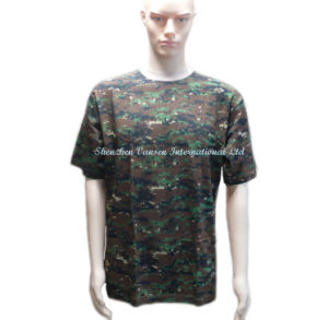 Army Crew-Neck Camouflage T-Shirt for Men pictures & photos