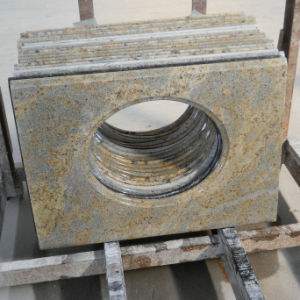 Kashmir Gold Granite Vanity Top for Bathroom pictures & photos