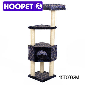 Luxurious Indoor Cat Tree House and Multi-Level Cat Tree