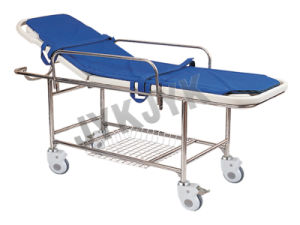 Stainless Steel Stretcher Trolley with Big Castors pictures & photos