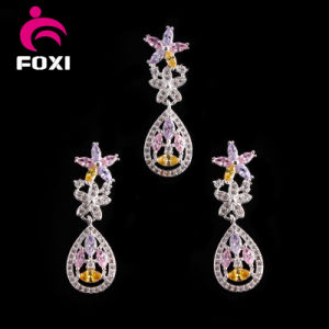 Cubic Zirconia Gold Plated Brass Dubai Gold Plated Jewelry Sets pictures & photos
