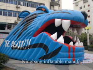 Outdoor Tiger Head Inflatable Tunnel for Advertising